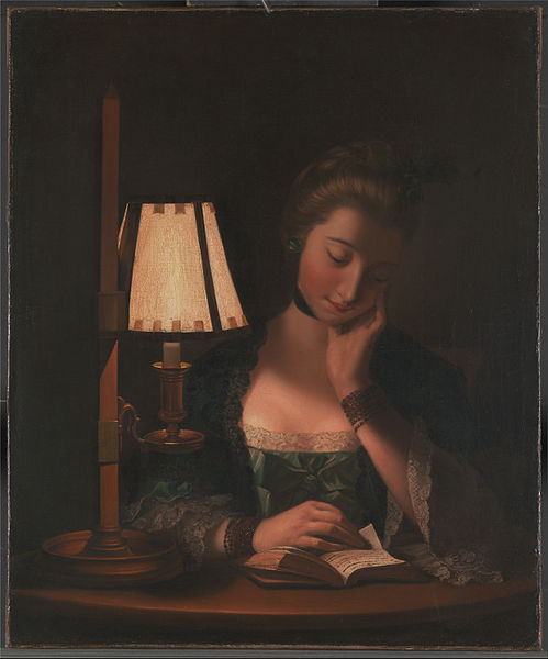 女性  阅读 由 Paper-bell 阴影 通过 Henry Robert Morland (1716-1797, United Kingdom) | 手工畫 | WahooArt.com