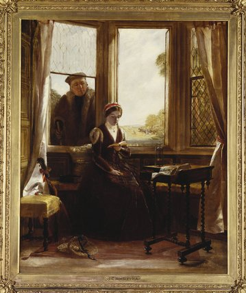 顺序 畫複製 | 珍妮夫人 灰色 和罗杰ascham 通过 John Callcott Horsley (1817-1903, United Kingdom) | WahooArt.com