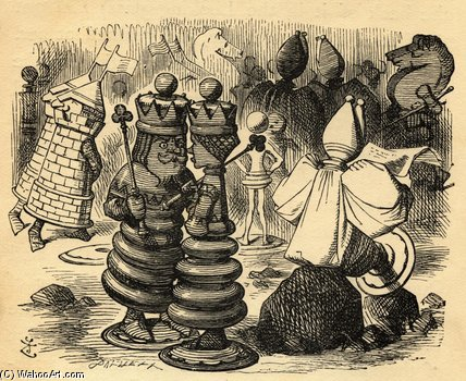 棋手 通过 John Tenniel (1820-1914, United Kingdom)
