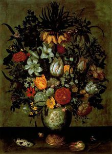 Ambrosius Bosschaert The Younger - 中文 花瓶  与  花儿