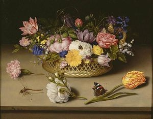 Ambrosius Bosschaert The Younger - 静物 花卉