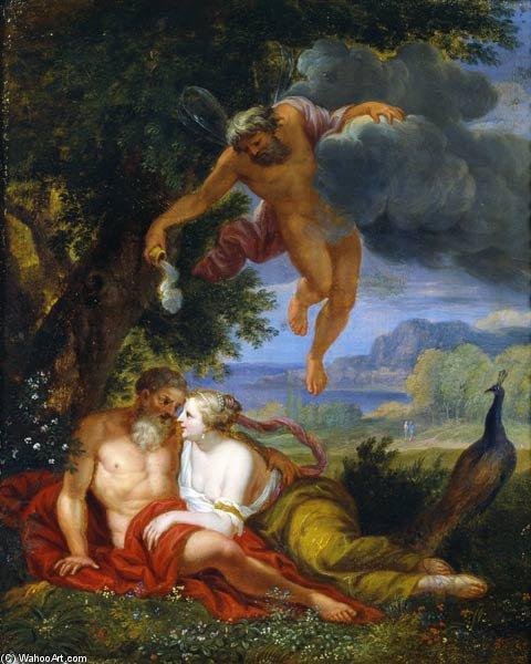 普诺斯 发出 木星 和 朱诺 到 睡觉 通过 balthasar beschey (1708