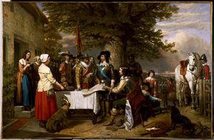 Charles Landseer -  的 Eve Of  的 Battle Of Edgehill