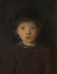 Edward William Stott -  研究 a `girl-s` 头