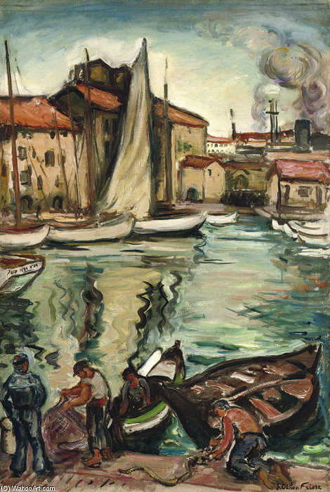 港口 土伦  通过 Emile Othon Friesz (1879-1949, France)