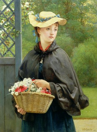 园丁的女儿 通过 George Dunlop Leslie (1835-1921, United Kingdom)