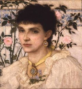 George Henry Boughton - 夫人的画像 乔治  亨利  鲍  -