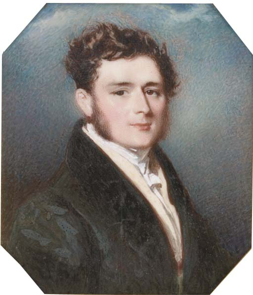 一个 年轻  绅士  通过 Alfred Edward Chalon (1780-1860, Switzerland)