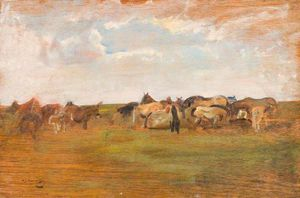 Alfred James Munnings - 埃克斯穆尔小马 -