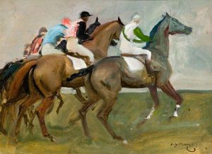"Alfred James Munnings - 研究""开始"" -"