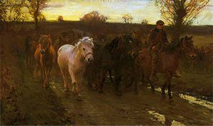 Alfred James Munnings - 旅行者