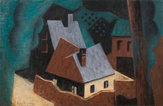 Arbres的 等 Maisons 通过 Jean Dominique Antony Metzinger (1883-1956, France) | 畫再現 | WahooArt.com