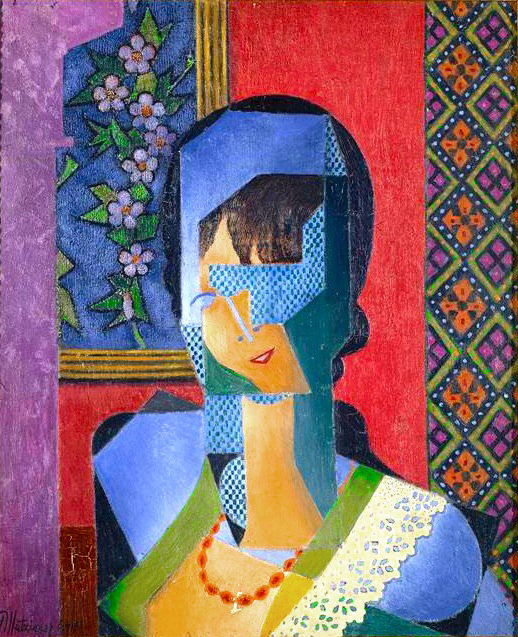FEMME A LA Dentelle 通过 Jean Dominique Antony Metzinger (1883-1956, France)