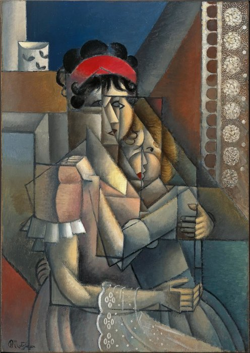 FEMME A LAFenêtre两家,Maternité 通过 Jean Dominique Antony Metzinger (1883-1956, France) | 幀畫冊專輯 | WahooArt.com