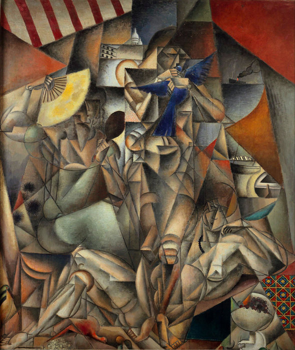 L OISEAU布鲁 通过 Jean Dominique Antony Metzinger (1883-1956, France)