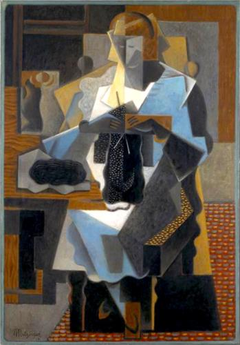 香格里拉t​​ricoteuse 通过 Jean Dominique Antony Metzinger (1883-1956, France)