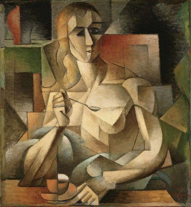 乐 Goûter ( 茶  时间 ) 通过 Jean Dominique Antony Metzinger (1883-1956, France) | 手工畫 | WahooArt.com