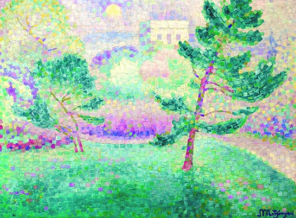 晨报坳公园里公园 通过 Jean Dominique Antony Metzinger (1883-1956, France) | 傑作拷貝 | WahooArt.com