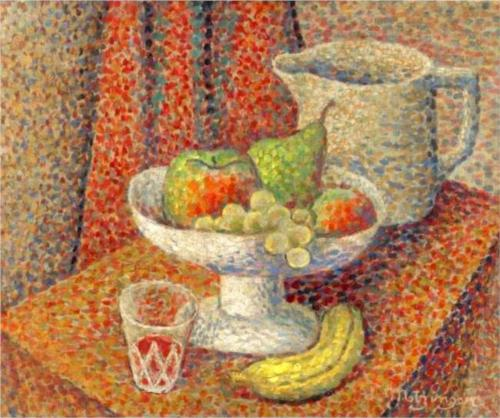 自然莫特 通过 Jean Dominique Antony Metzinger (1883-1956, France)