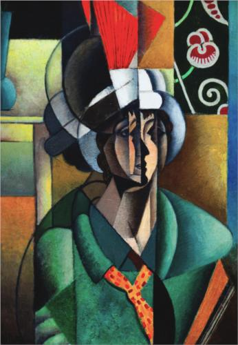 女性  与  风扇 通过 Jean Dominique Antony Metzinger (1883-1956, France) | 幀畫冊專輯 | WahooArt.com