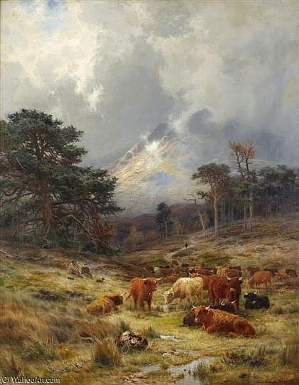 Braes 在 Orchy , Argylshire 通过 Louis Bosworth Hurt (1856-1929, United Kingdom) | 傑作拷貝 | WahooArt.com