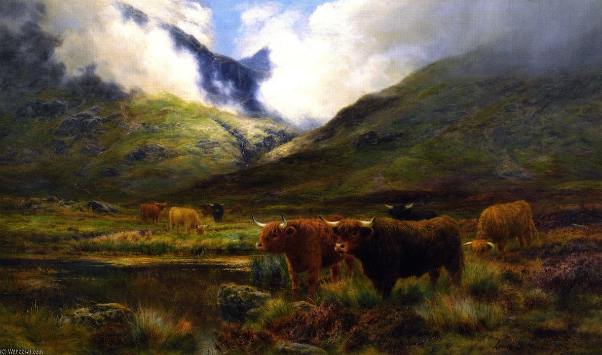 Clachaig,Clencoe 通过 Louis Bosworth Hurt (1856-1929, United Kingdom)