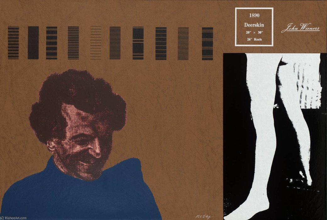 鹿皮 ( 约翰短粗 ) 通过 Ronald Brooks Kitaj (1932-2007, United States)