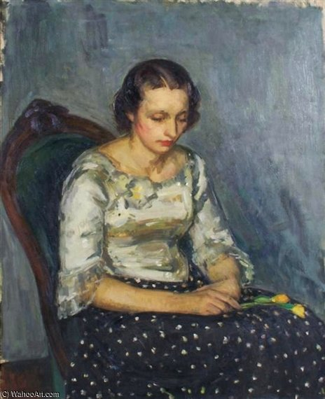 小 花束  通过 Louis Ritman (1889-1963, Russia)