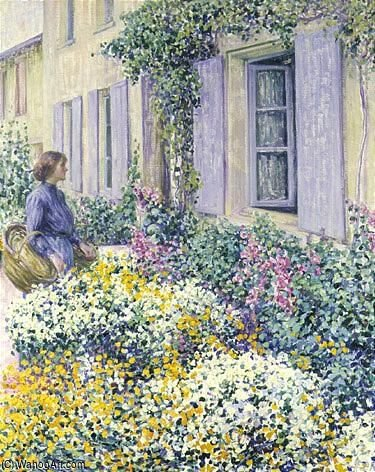 的  花  花园, givern0 通过 Louis Ritman (1889-1963, Russia)