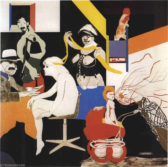 俄亥俄州刚 通过 Ronald Brooks Kitaj (1932-2007, United States)