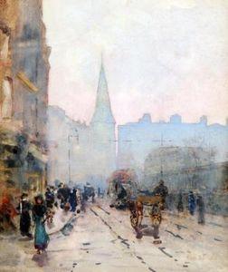 斯教堂从 低 道森 圣 , 都柏林 通过 Rose Maynard Barton 1856 1930图片