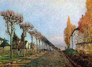 Alfred Sisley - 街 德  S_vres   Louveciennes的  阳光