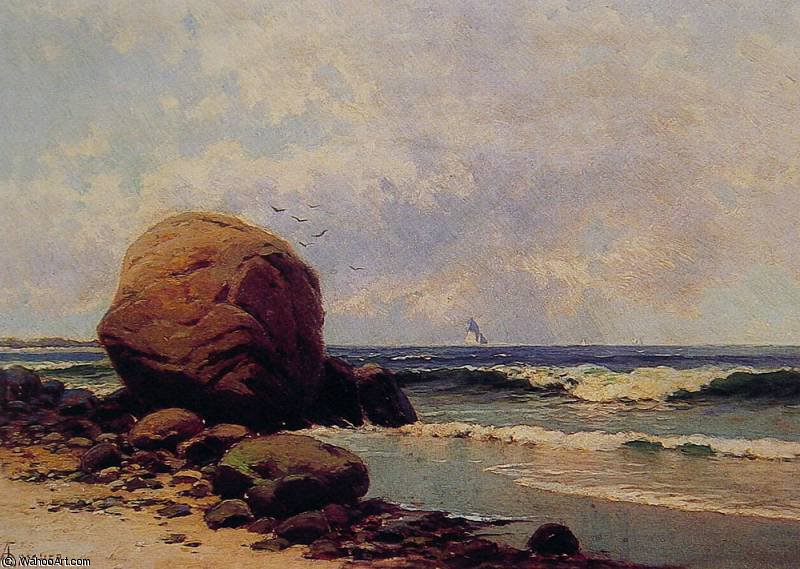 海景 通过 Alfred Thompson Bricher (1837-1908, United States) | WahooArt.com