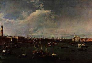 Giovanni Antonio Canal (Canaletto) - 班西诺 迪 圣马可 ( 圣 Mark's 盆地 )