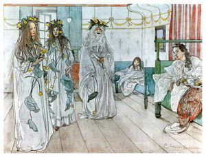 Carl Larsson - 为 Karins nameday