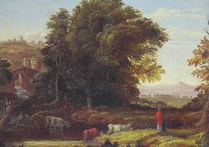 George Inness - 意大利Lanscape与Adueduct