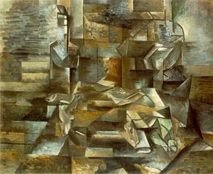 Georges Braque - 瓶子和鱼