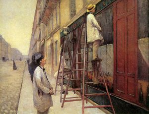 Gustave Caillebotte - 在签约画家孙