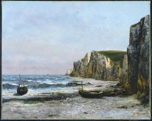 Gustave Courbet - 悬崖 在 Etreat - -