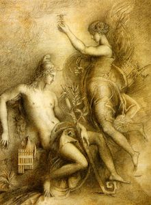 Gustave Moreau - Hesiode等拉缪斯
