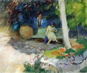Henri Lebasque - 在花园里