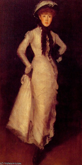 Arragnement 在 白色和 黑色 通过 James Abbott Mcneill Whistler (1834-1903, United States) | 幀打印 | WahooArt.com