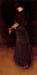 James Abbott Mcneill Whistler - 安排 在  黑色  的  女士  在  的  黄色