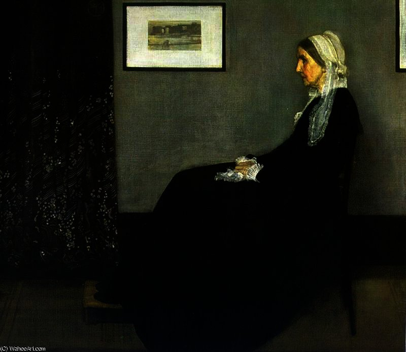 安排 在 灰色 和 黑 通过 James Abbott Mcneill Whistler (1834-1903, United States)