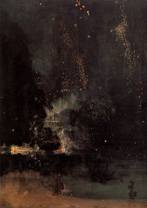 James Abbott Mcneill Whistler - 夜曲黑色和金色的火箭坠落