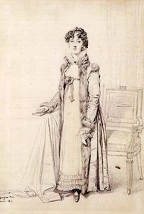 Jean Auguste Dominique Ingres - 夫人威廉·亨利·卡文迪什本廷克出生的玛丽夫人艾奇逊