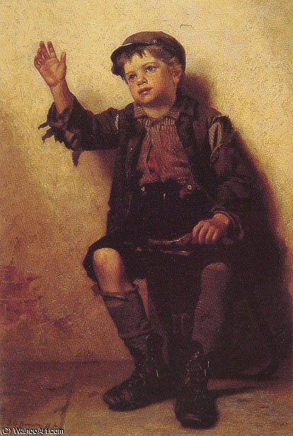 擦鞋童 通过 John George Brown (1831-1913, United Kingdom)