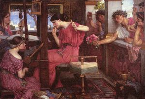 John William Waterhouse - 佩内洛普和求婚者