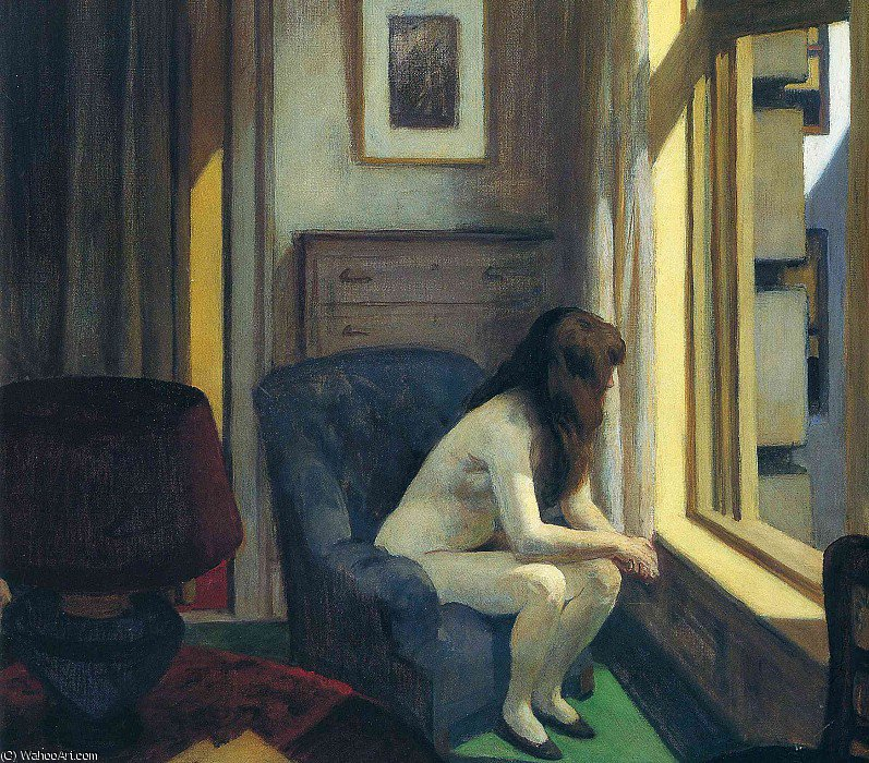 无 9930   通过 Edward Hopper (1931-1967, United States) | 幀打印 | WahooArt.com