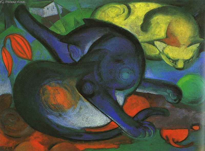 无 136   通过 Franz Marc (1880-1916, Germany)